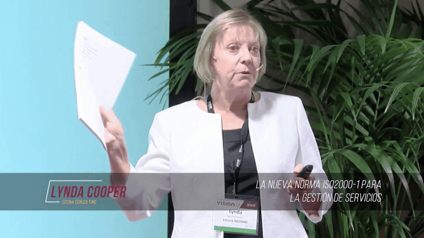 Lynda Cooper presenting the new edition ISO 20000-1:2018